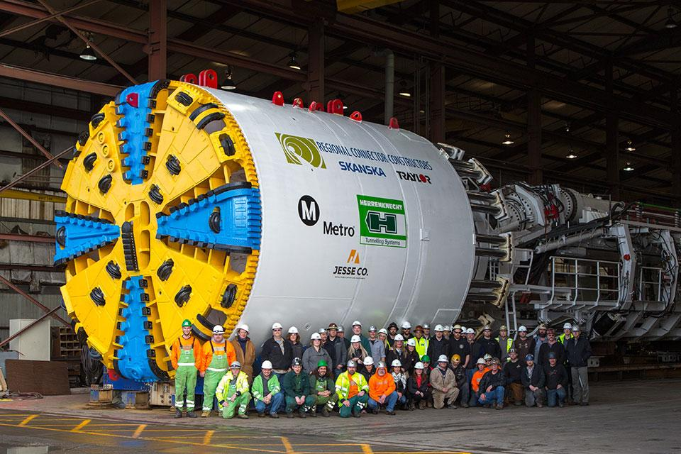 Tunnel Boring Machine (TBM) courtesy of German Manufacturer Herrenknecht AG