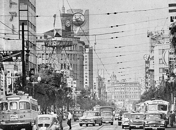 Photo of Ginza in Japan circa 1960