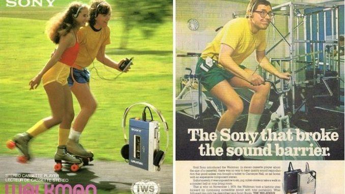 Photo of Sony Walkman ads from 1979