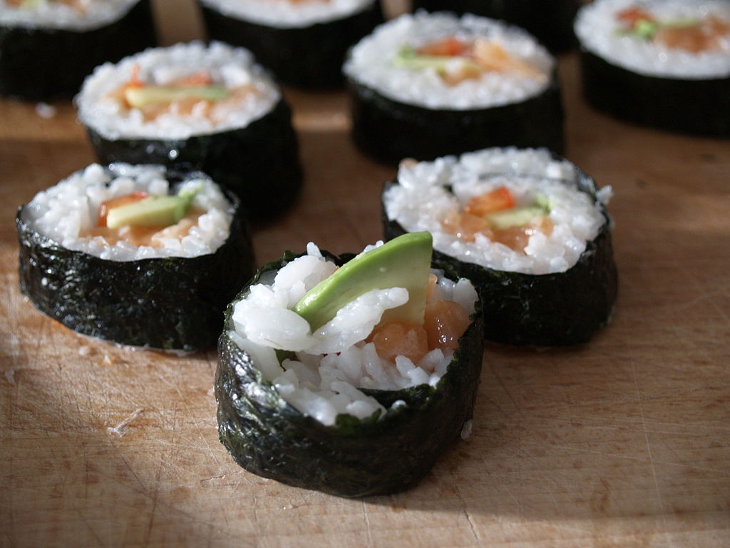 Photo of sushi rolls