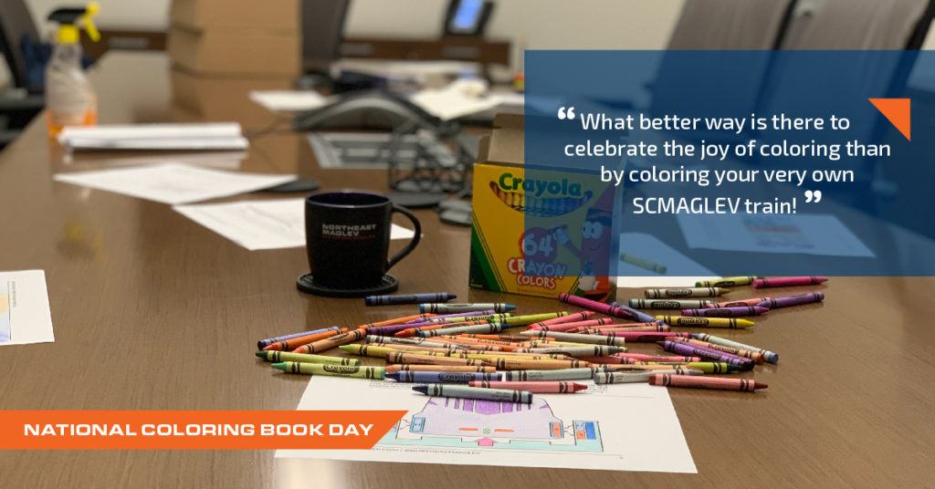 National coloring book day - photo of crayons on a table