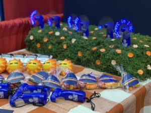 Photograph of Northeast Maglev branded giveaways from the 2019 MACo Conference