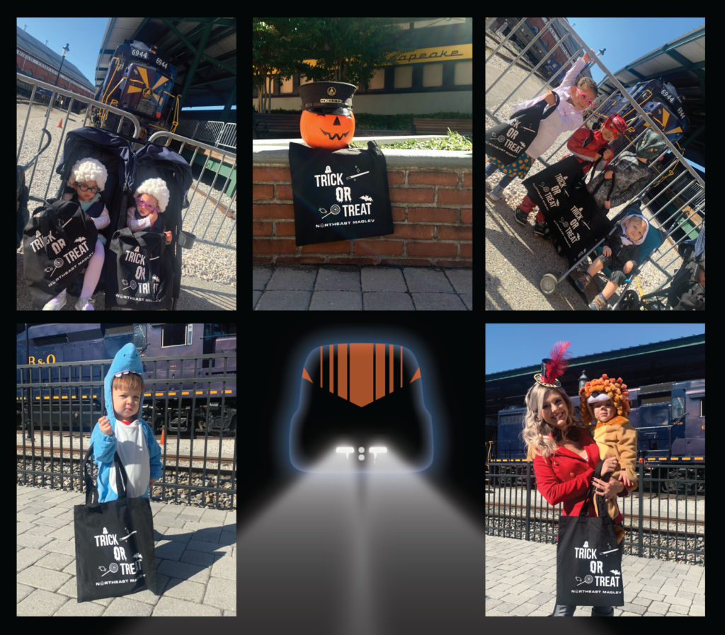 Northeast Maglev Halloween at B&O Railroad Costume Collage