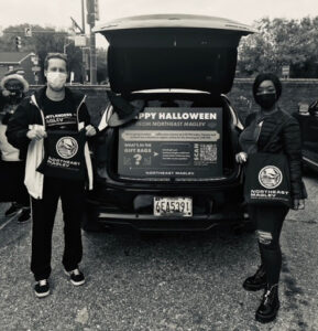 Photograph of Northeast Maglev employees taking part in National Action Networks Halloween event