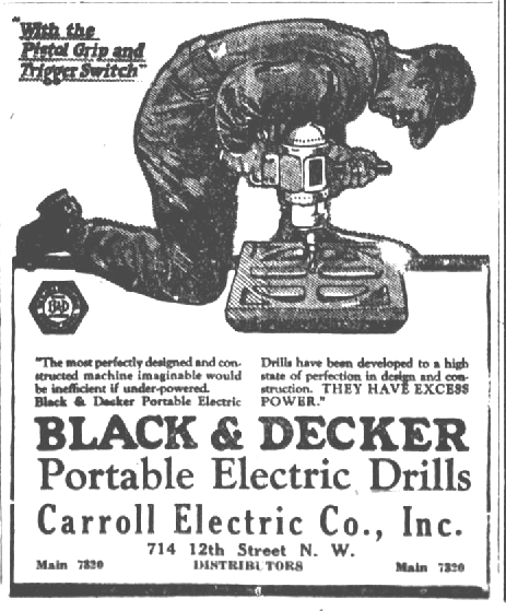Vintage Black & Decker promotional ad