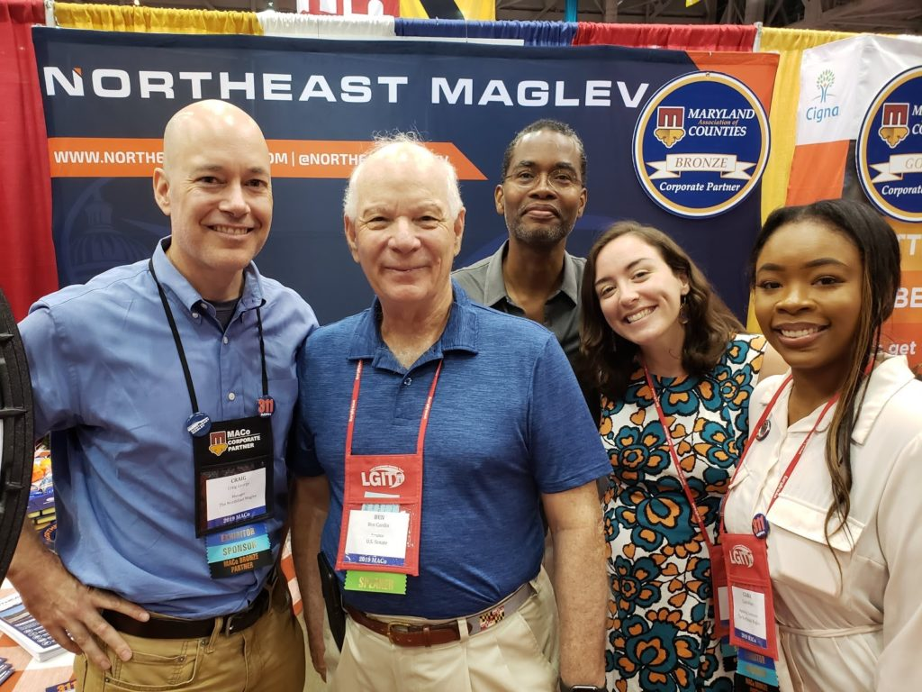 Northeast Maglev and Ben Cardin at the Maryland Association of Counties 2019 Summer Conference