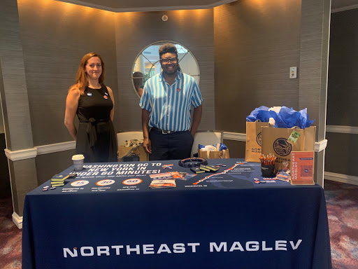 Northeast Maglev interns at DC Sustainability Fair booth