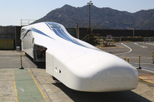 Photograph of the improved SCMAGLEV train