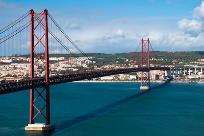 Photograph of the Tagus River Bridge, Portugal