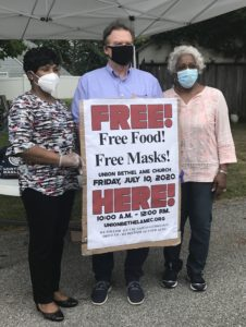 Photograph of Northeast Maglev CEO and Maryland House Speaker Adrienne Jones at a face mask distribution event