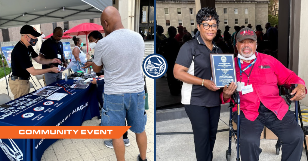Photo compilation of Northeast Maglev employees attending the 2021 Baltimore County African American Cultural Festival