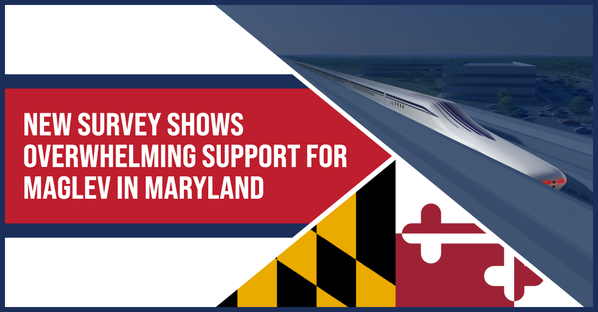 New survey shows overwhelming support for maglev in Maryland