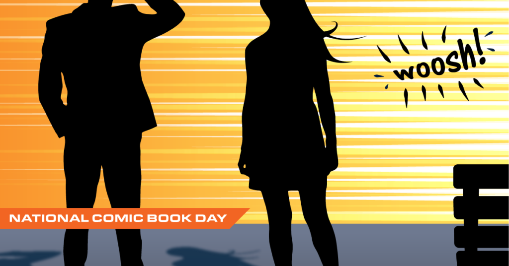 Header illustration for National Comic Book Day