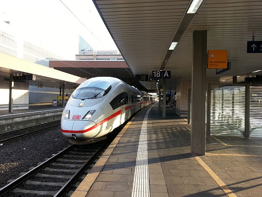 Photograph of an ICE High Speed Train at a station