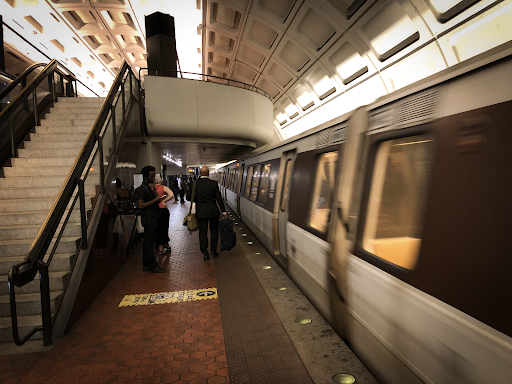 Photograph of a METRO train in an underground station